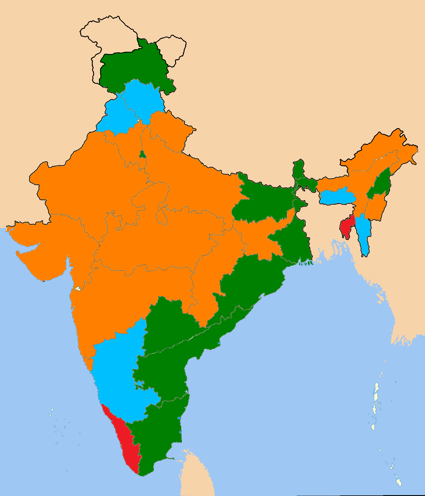 India States Map 2016.India States And Union Territories And Political Parties Dr