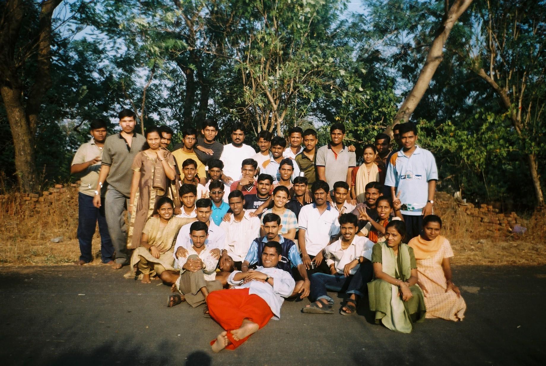 Manjul Bharadwaj and the mesmerized group...